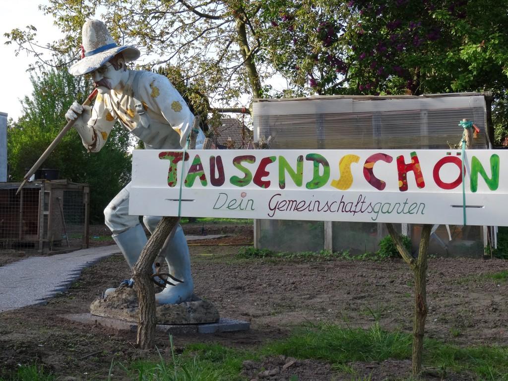 Tausendschön Dein Gemeinschaftgarten hat ein Namensschild - Tag der offenen Pforte