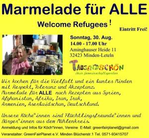 Marmelade für Alle – Welcome Refugees