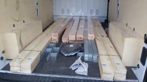 Holz für das Gewächshaus