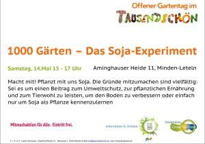 1000 Gärten das Soja Experiment