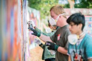 Graffiti Workshop im Tausendschön