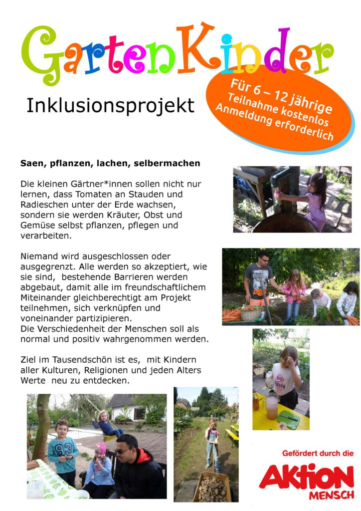 Gartenkinder Inklusionsprojekt