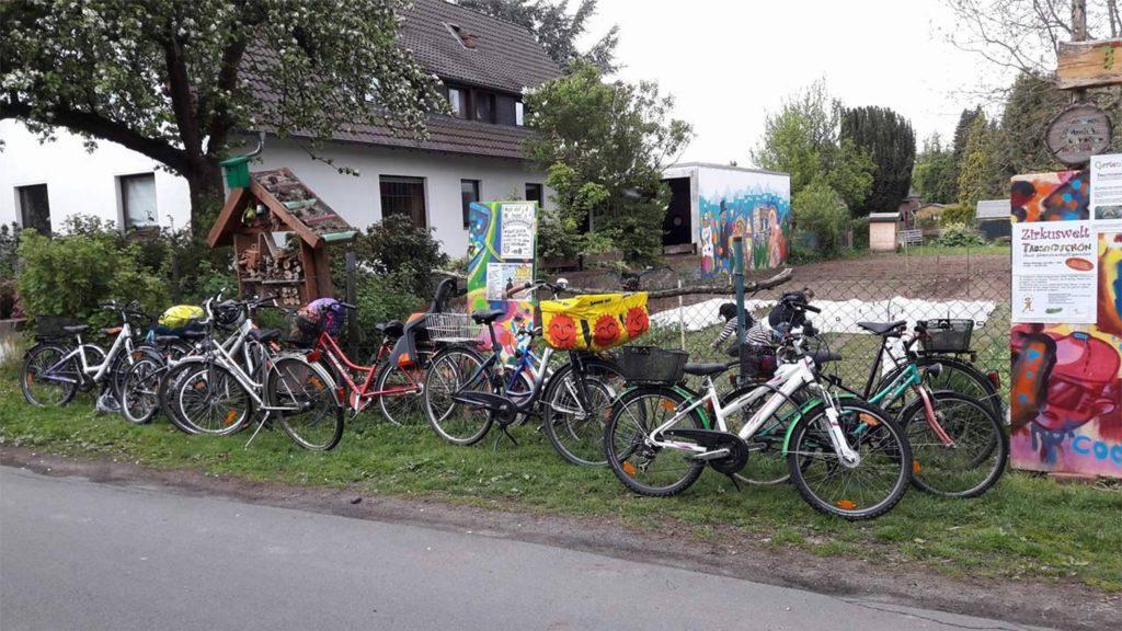 Mit dem Rad in den Garten - Auftakt Gartenkinder
