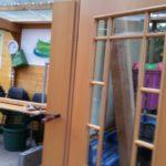 Eine  barrierefreie Doppetür für den Gartentreffpunkt