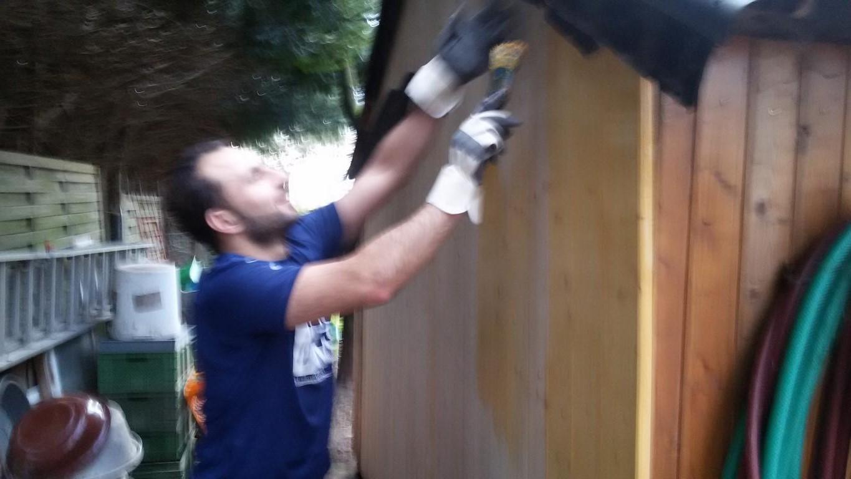 Holzschutz  -  natürlich mit dem blauen Engel