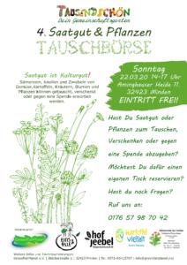 ABSAGE!!! Saatgut & Pflanzentauschbörse