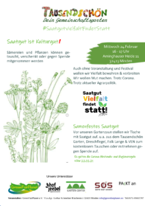 Saatgutvielfalt findet statt